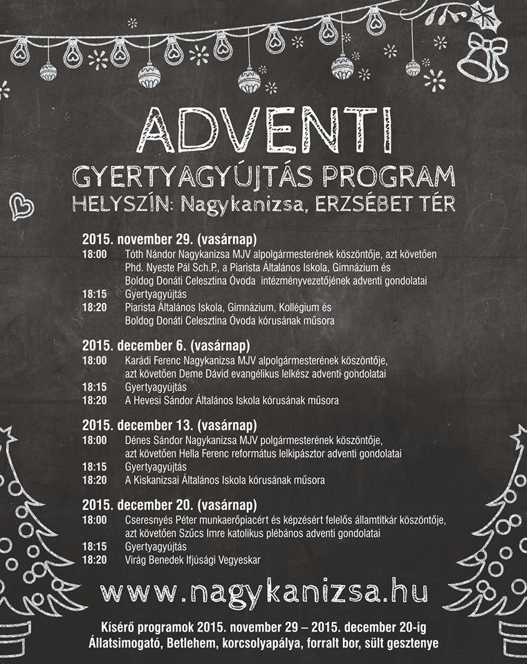 nagykanizsa advent program 2015