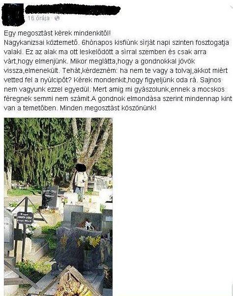 nagykanizsa temetői lopás fotó