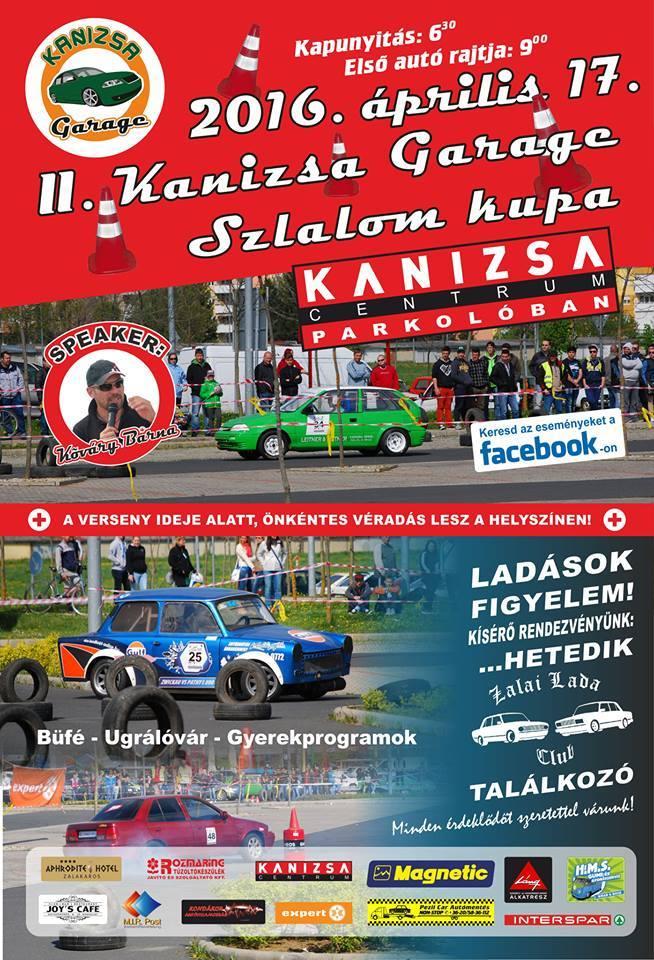kanizsa garage szlalomkupa plakát 2016